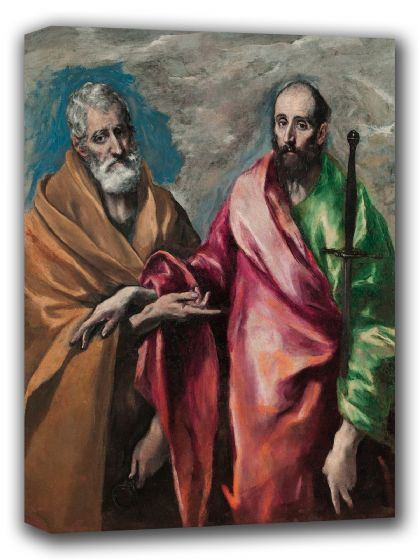 El Greco (Domenico Theotocopuli): Saint Peter and Saint Paul. Fine Art Canvas. Sizes: A4/A3/A2/A1 (002040)